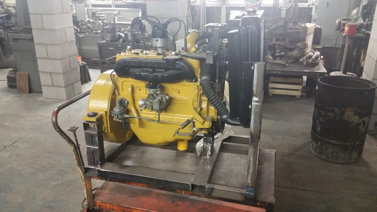 Continental F163 Flathead 4 Cylinder Engine Machining