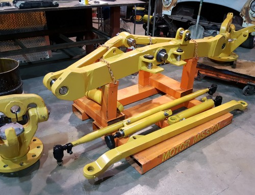 Caterpillar 16G Grader Axle Welding and Line Boring For New Pins and Bushings
