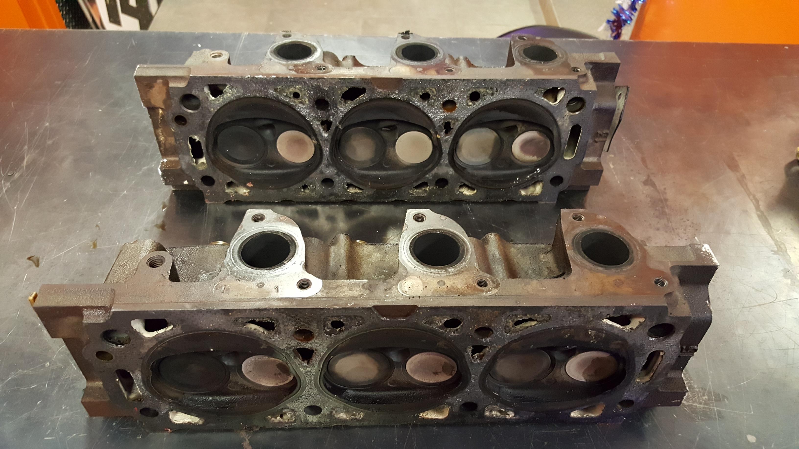 Bad Cylinder Head : Blown head gasket repair  motor mission