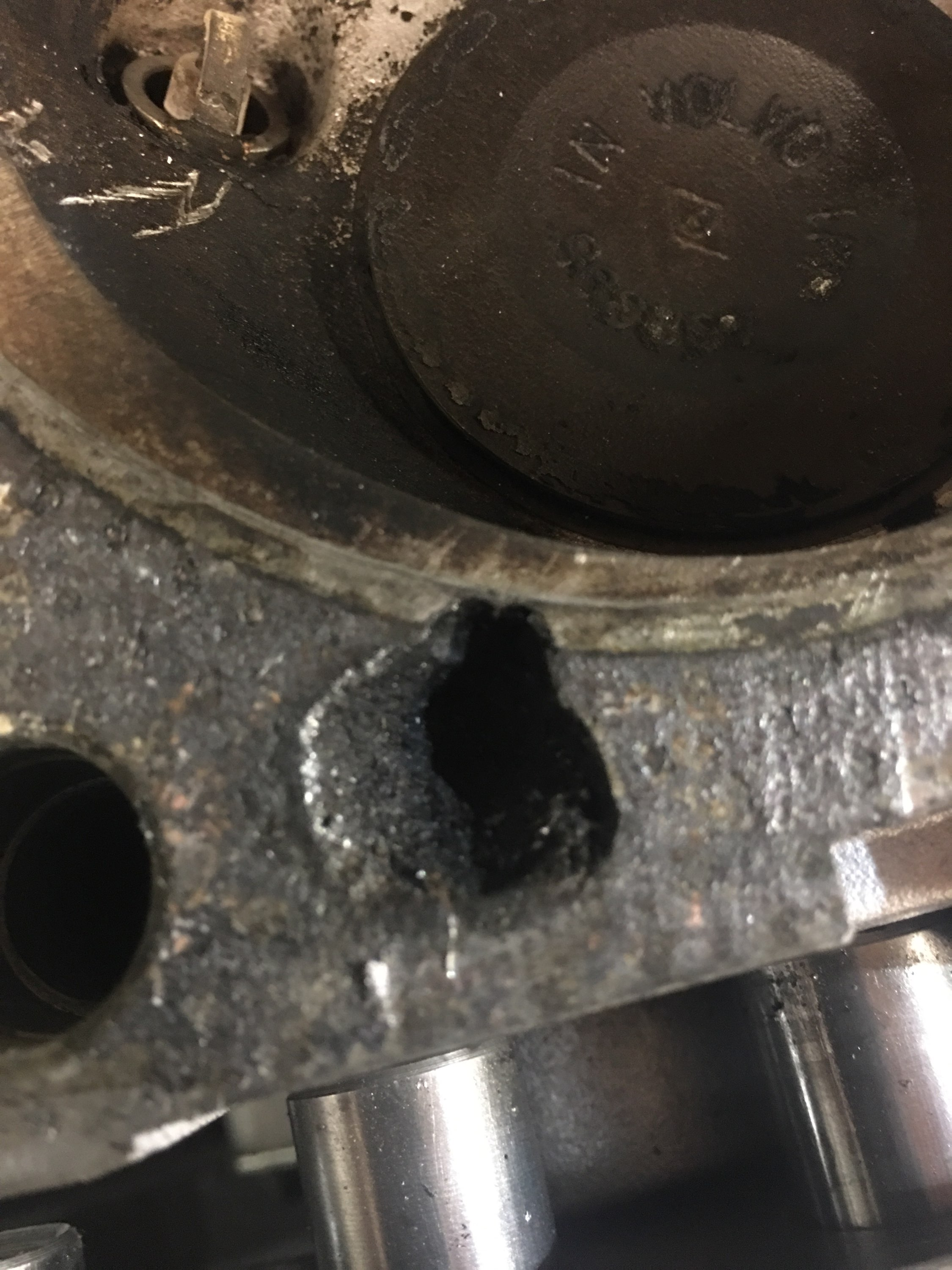 Pitted And Corroded Cylinder Wall Head Surface From Engine Coolant Corrosion Around Water Electrolysis