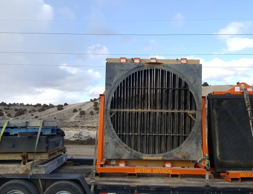 Hitachi EX5500 Shovel Hydraulic Oil Coolers, Cat 793C and 773 Radiators, and Compressor Oil Cooler Pick Up For Repairs