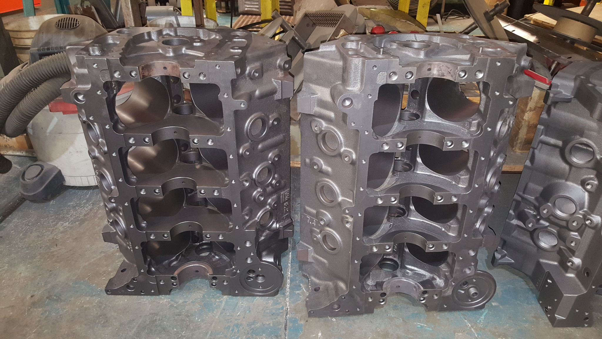 Here s some engine blocks that are all here for big inch stroker builds the ford engine is a brand new fe block from bbm bear block motors