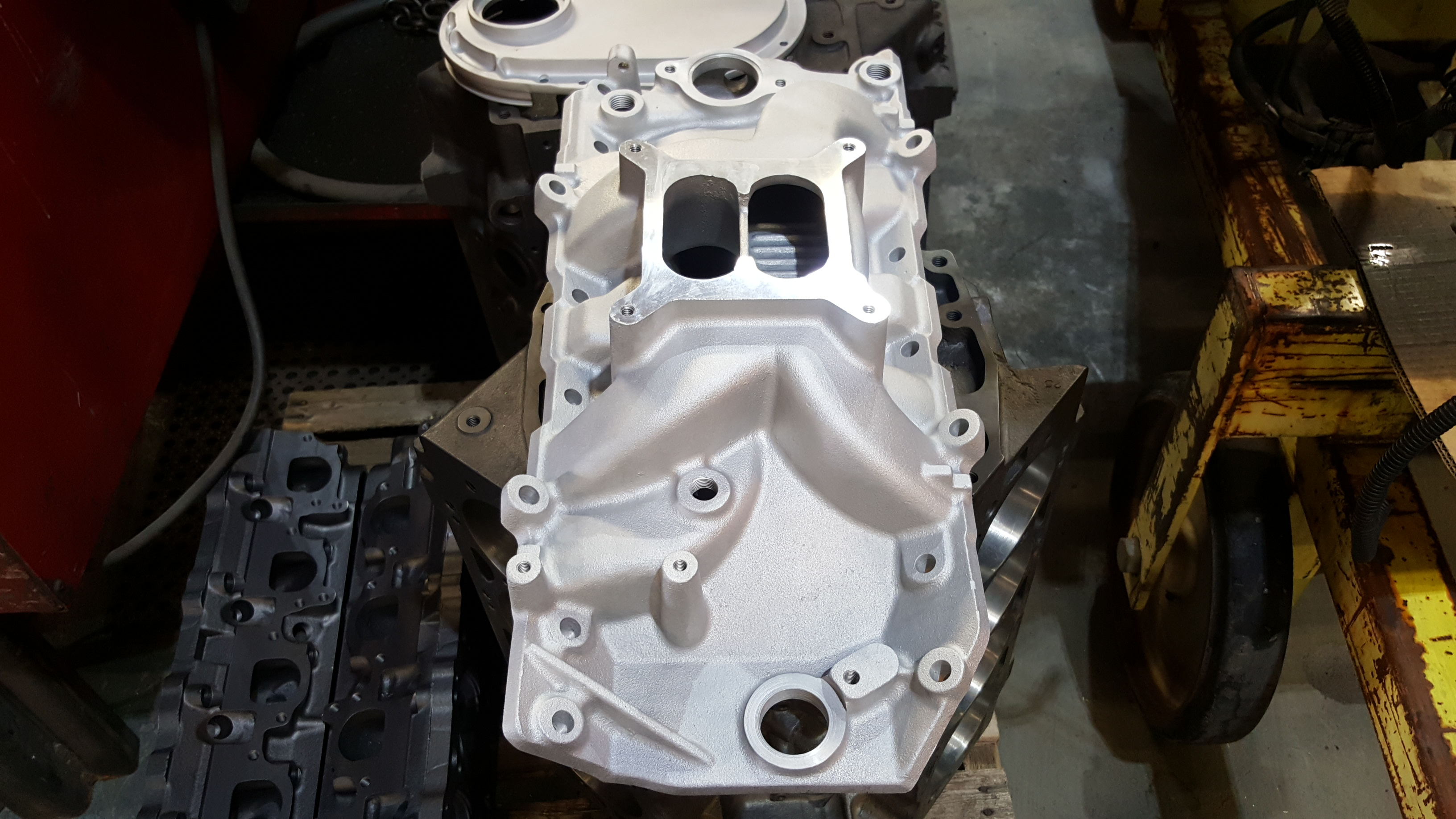 Big Block Chevy Rat Motor Engine Build Parts Ready For Powder Coating