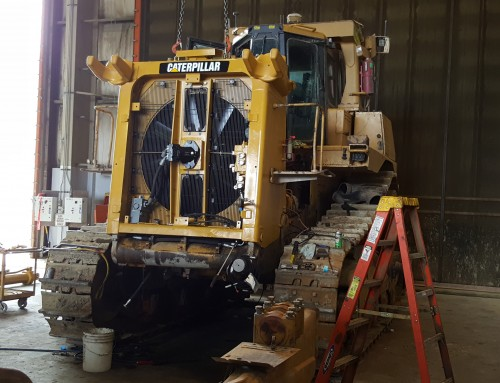 Caterpillar D10T Dozer AMOCS Radiator Cooling System and Coolers Hardnose Assembly Rebuild & Overhaul