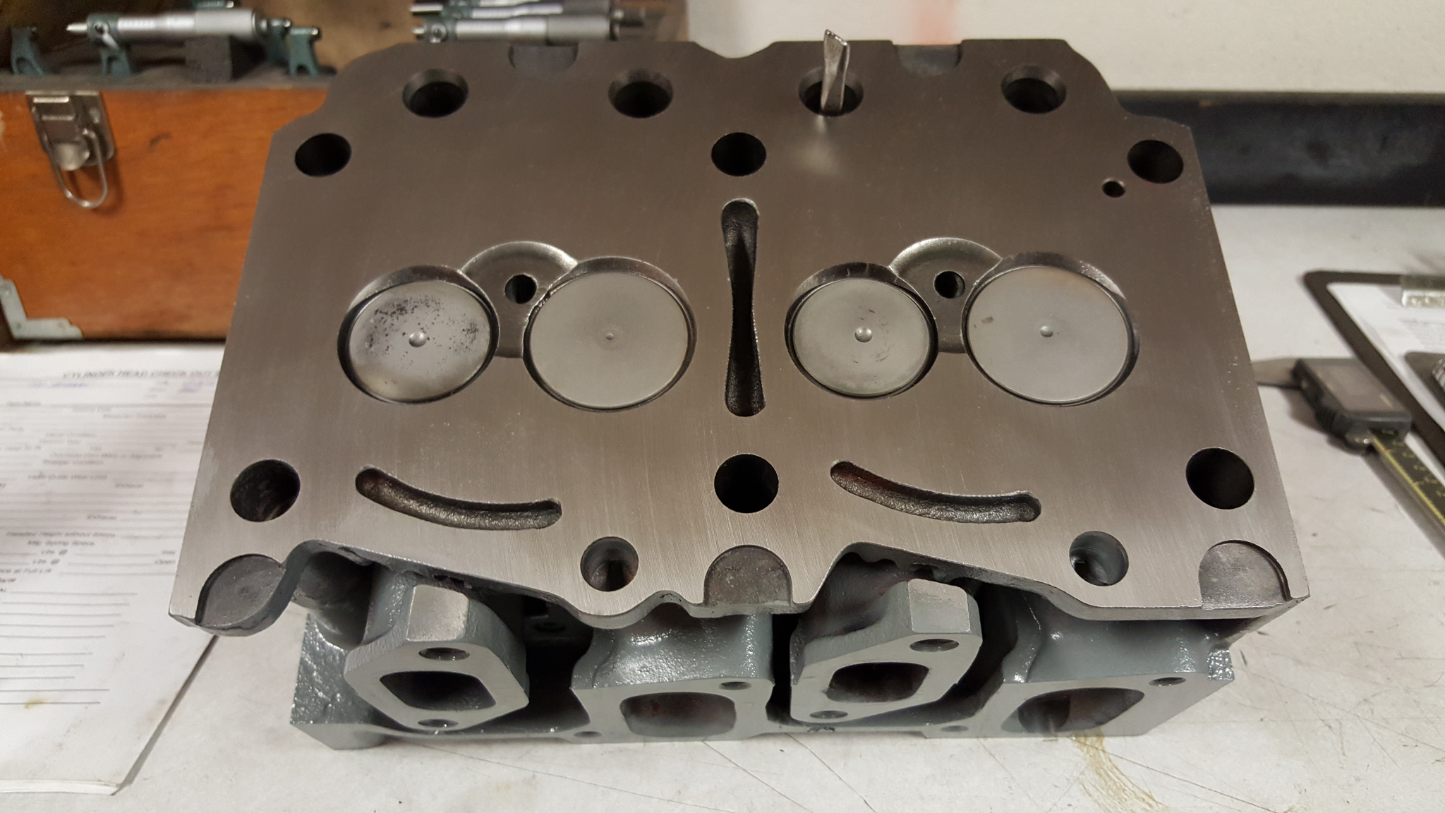 2 cylinder Deutz sel air cooled cylinder head valve job