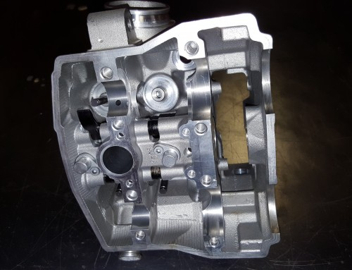 KTM 450 Motorcycle Cylinder Head Valve Job and Surface