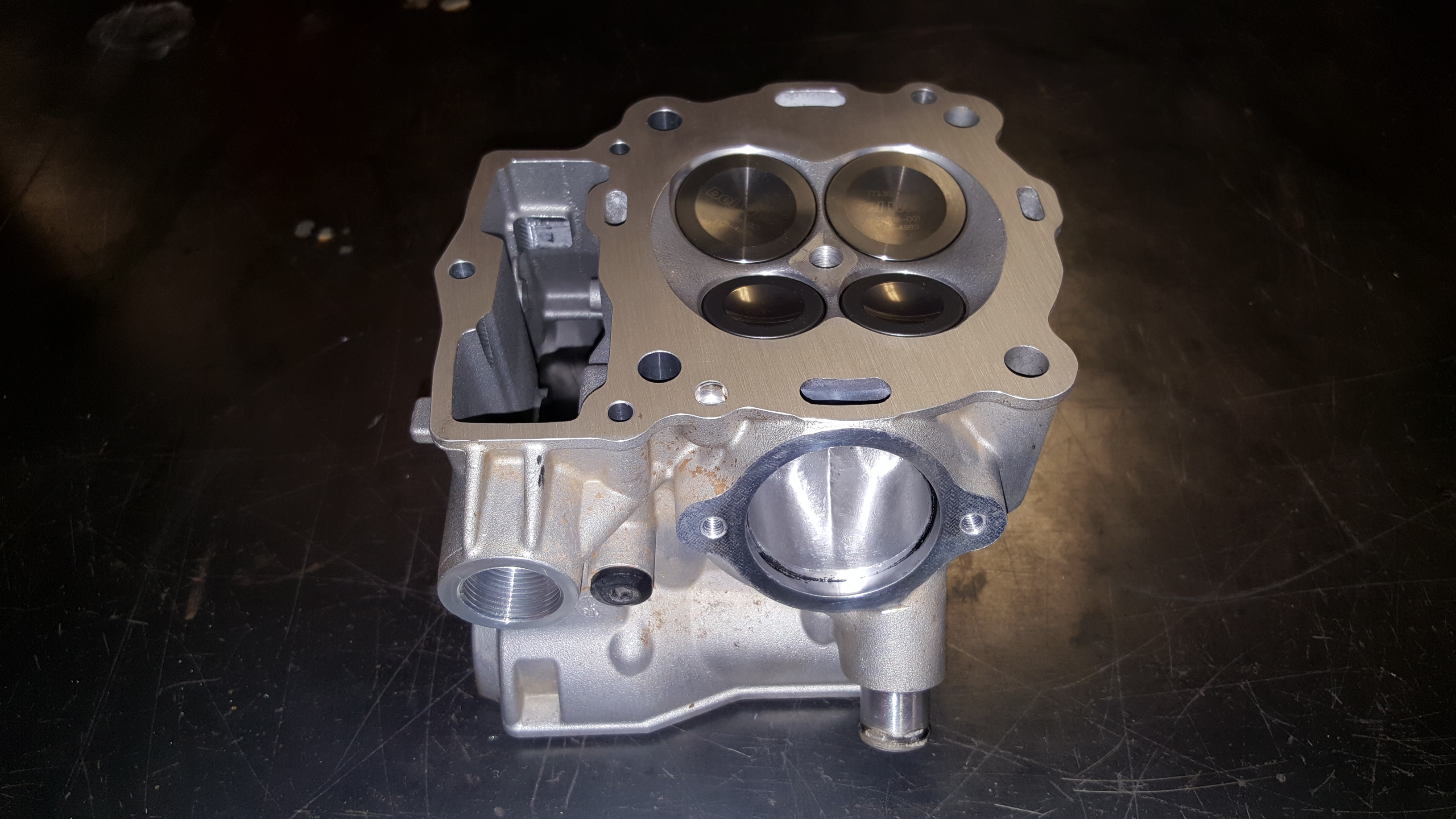 Motorcycle Cylinder Head : Ktm motorcycle cylinder head valve job and surface
