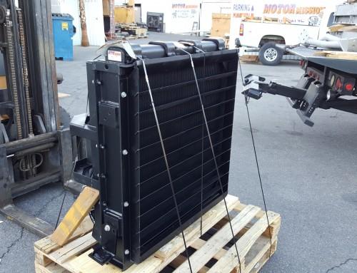 Komatsu WA1200 Loader Fuel Cooler Cleaning, Repair, & Overhaul