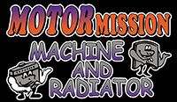 Motor Mission Machine and Radiator Retina Logo
