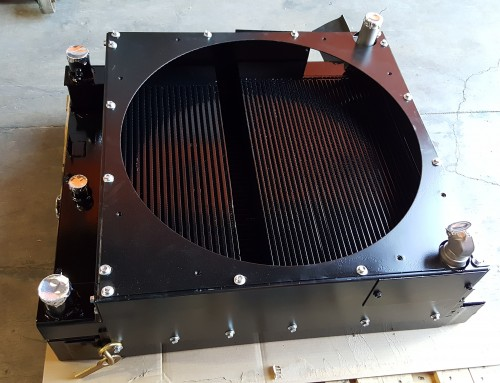Gomaco Paver Construction Machinery Radiator, Hydraulic Oil Cooler, & Aftercooler Repair & Rebuild
