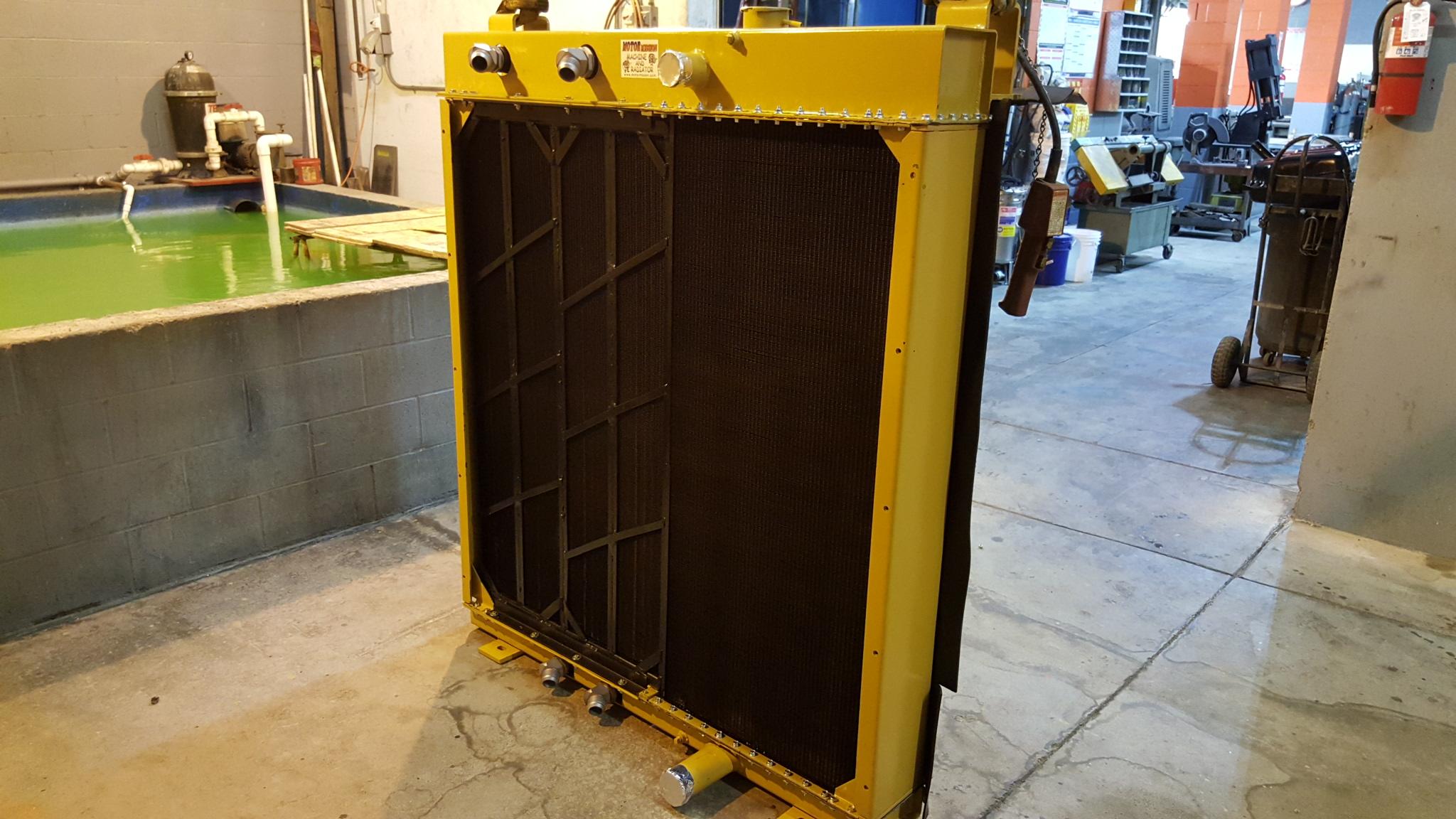 Vermeer Trencher Radiator Rebuild