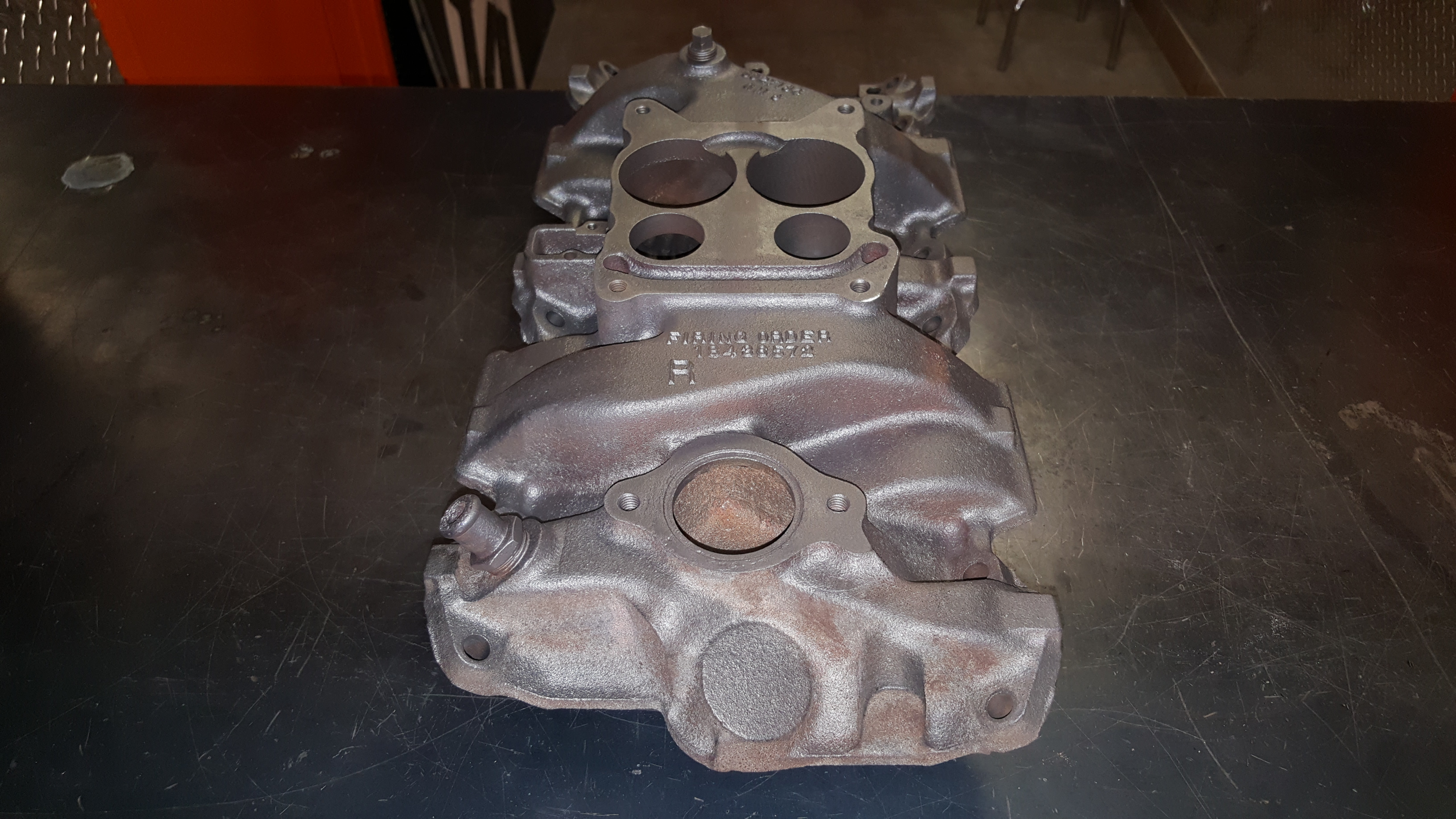 Chevy Camaro Cast Iron Intake Manifold Thermal Cleaning, Baking, and