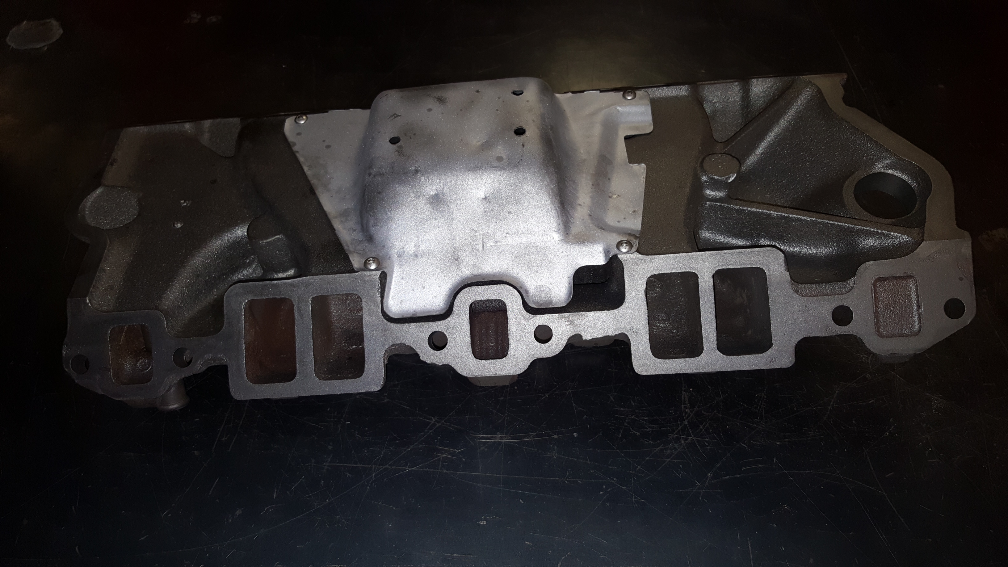 Chevy Camaro Cast Iron Intake Manifold Thermal Cleaning