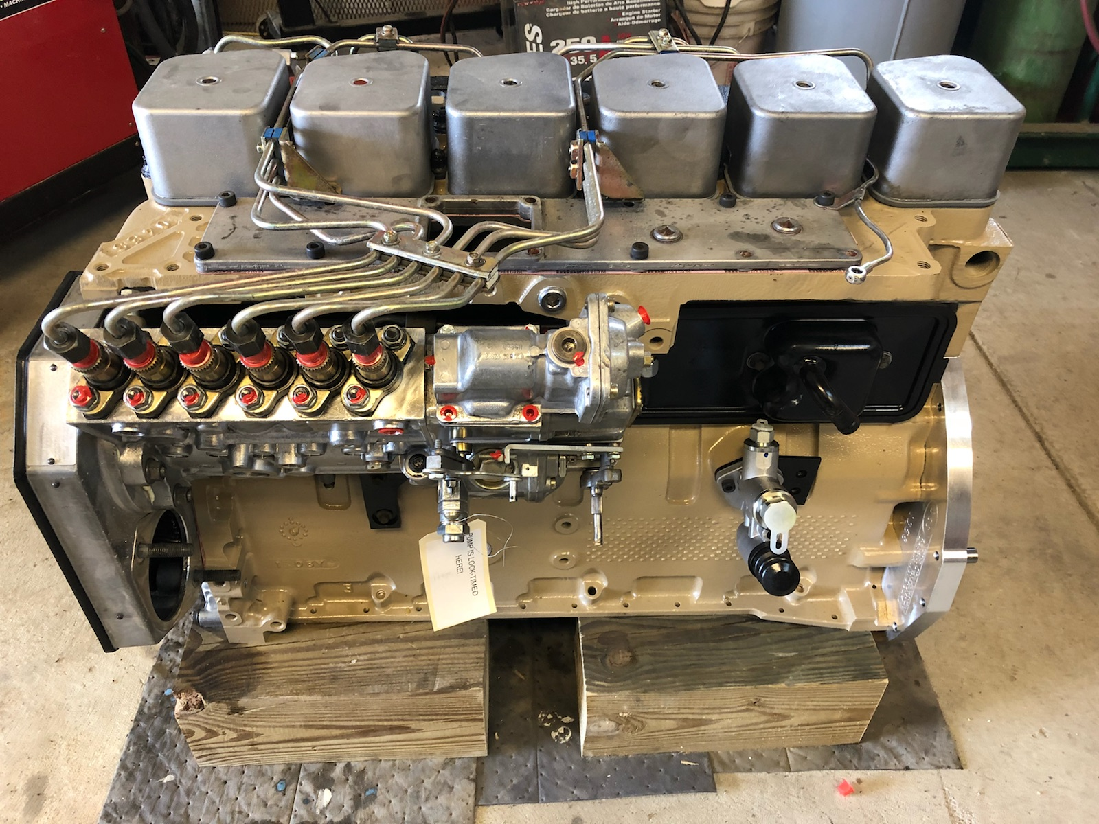 5 9 Cummins Diesel Engine Build With Ford Truck Adapter Kit - Motor