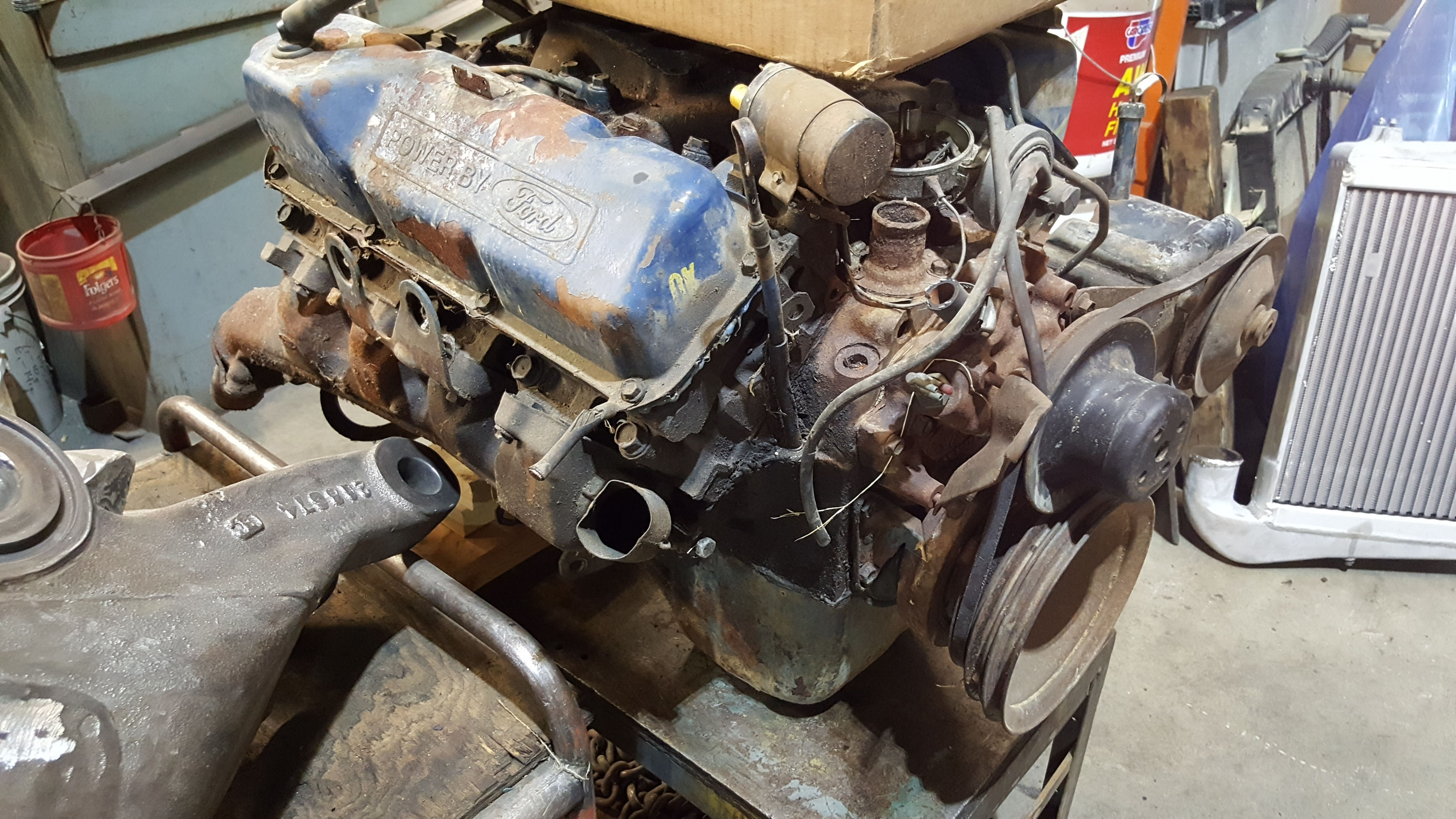 Ford 351 Cleveland Engine For Machine Work and Complete