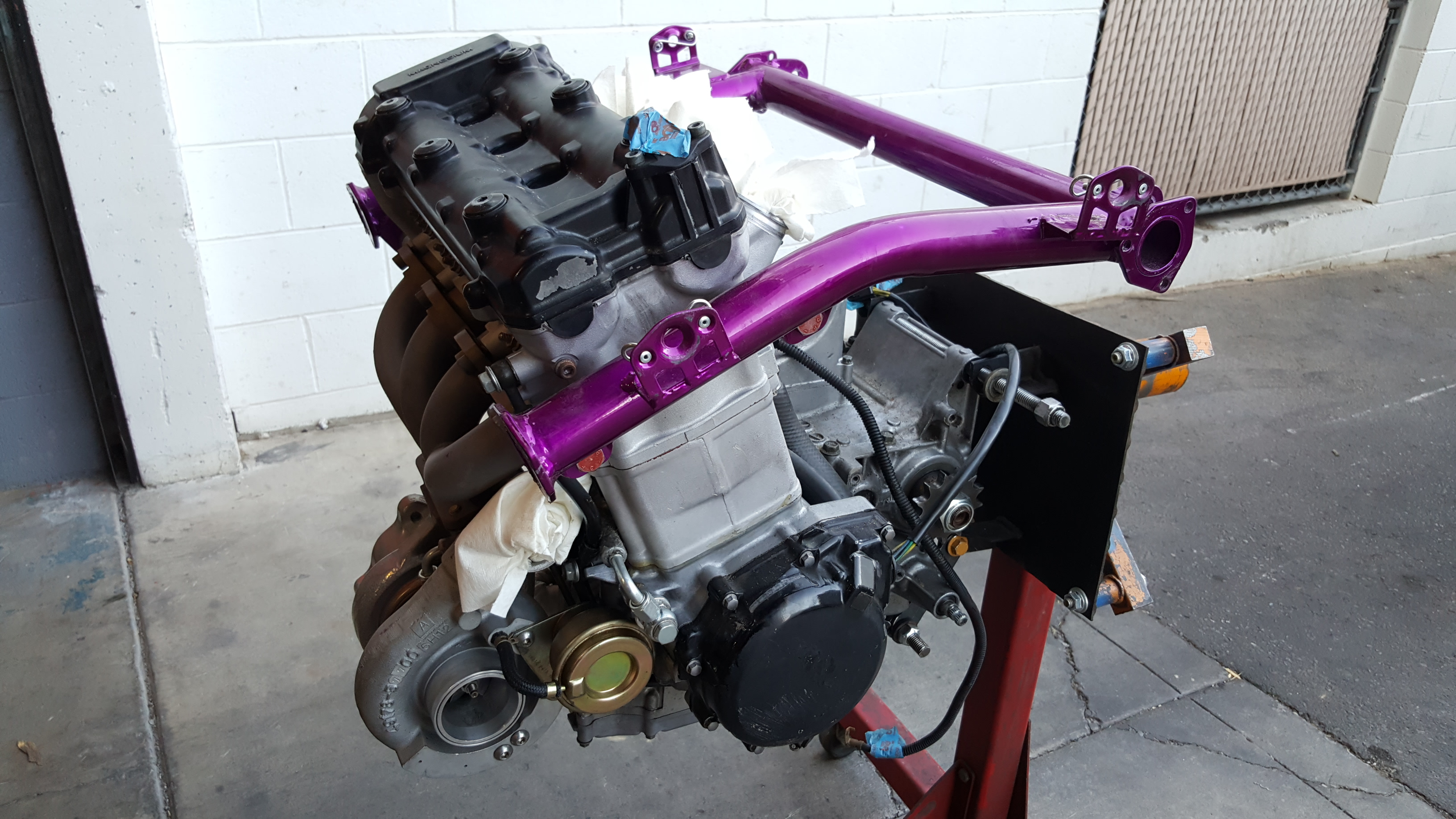 Turbocharged 1300cc Suzuki Hayabusa Sandrail Engine - Motor Mission