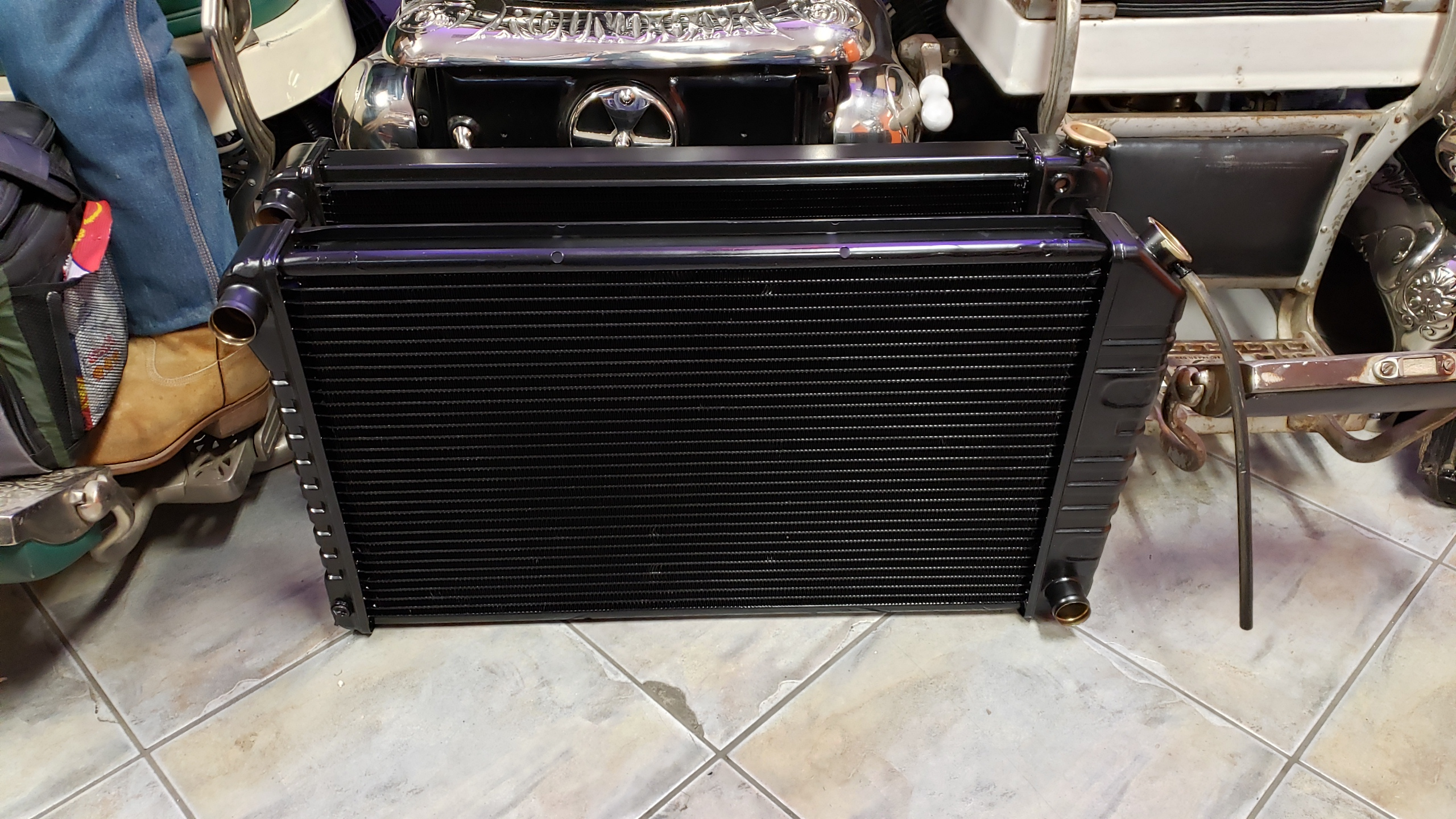 Old Copper Brass Chevy Gm Crossflow Radiator Repair And Recore