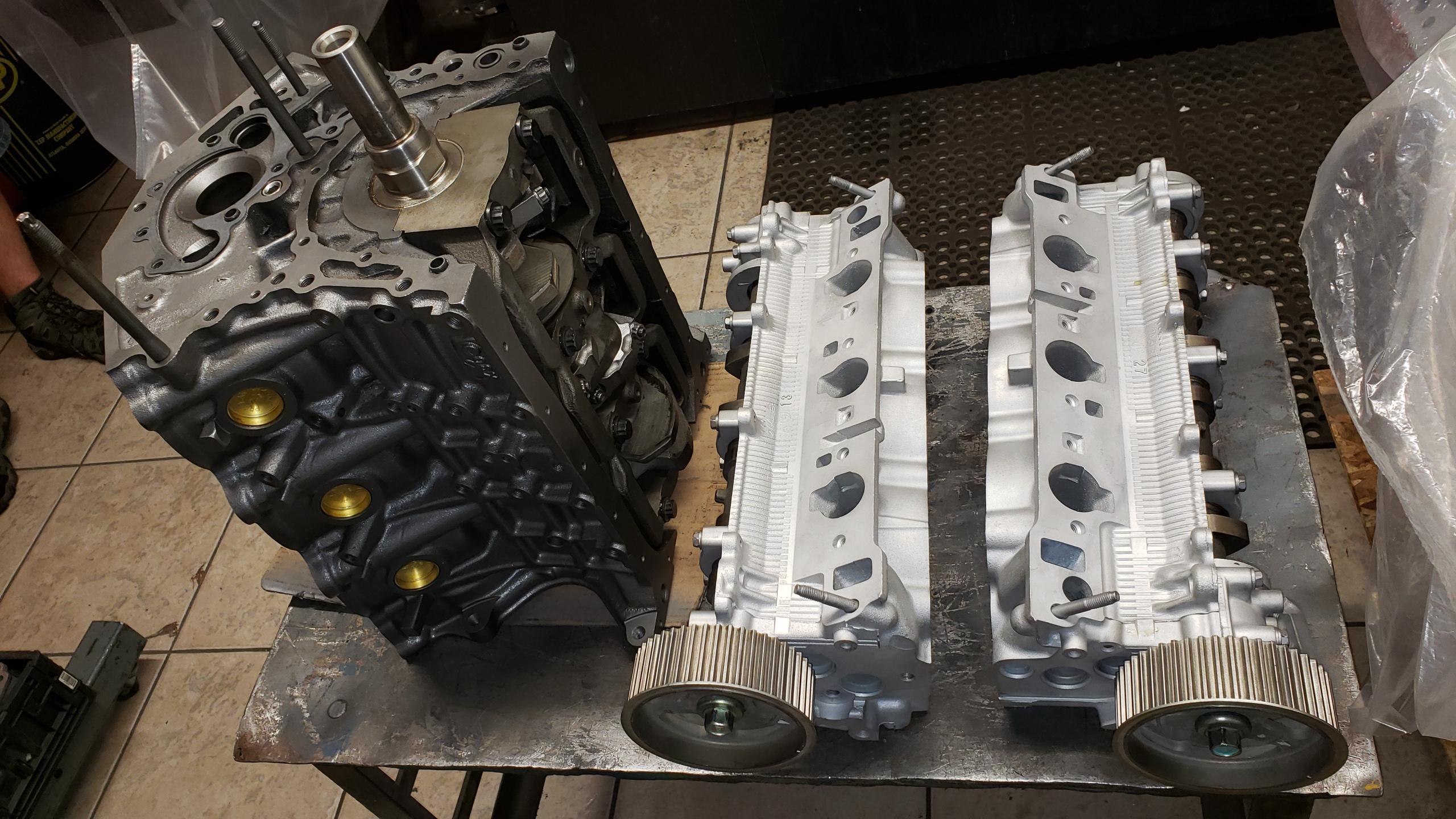Toyota 3VZE V6 Engine Machining, Valve Job and Shortblock
