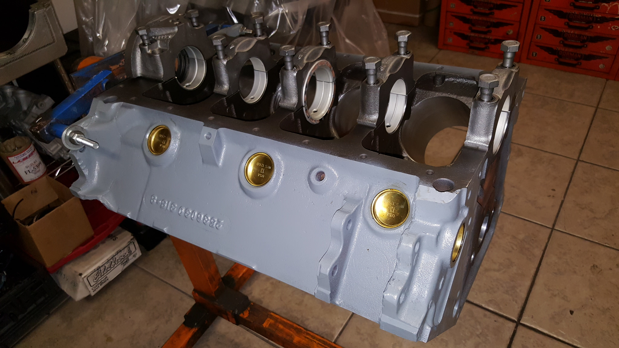 Dodge Engine Block on Angle Valve Installed