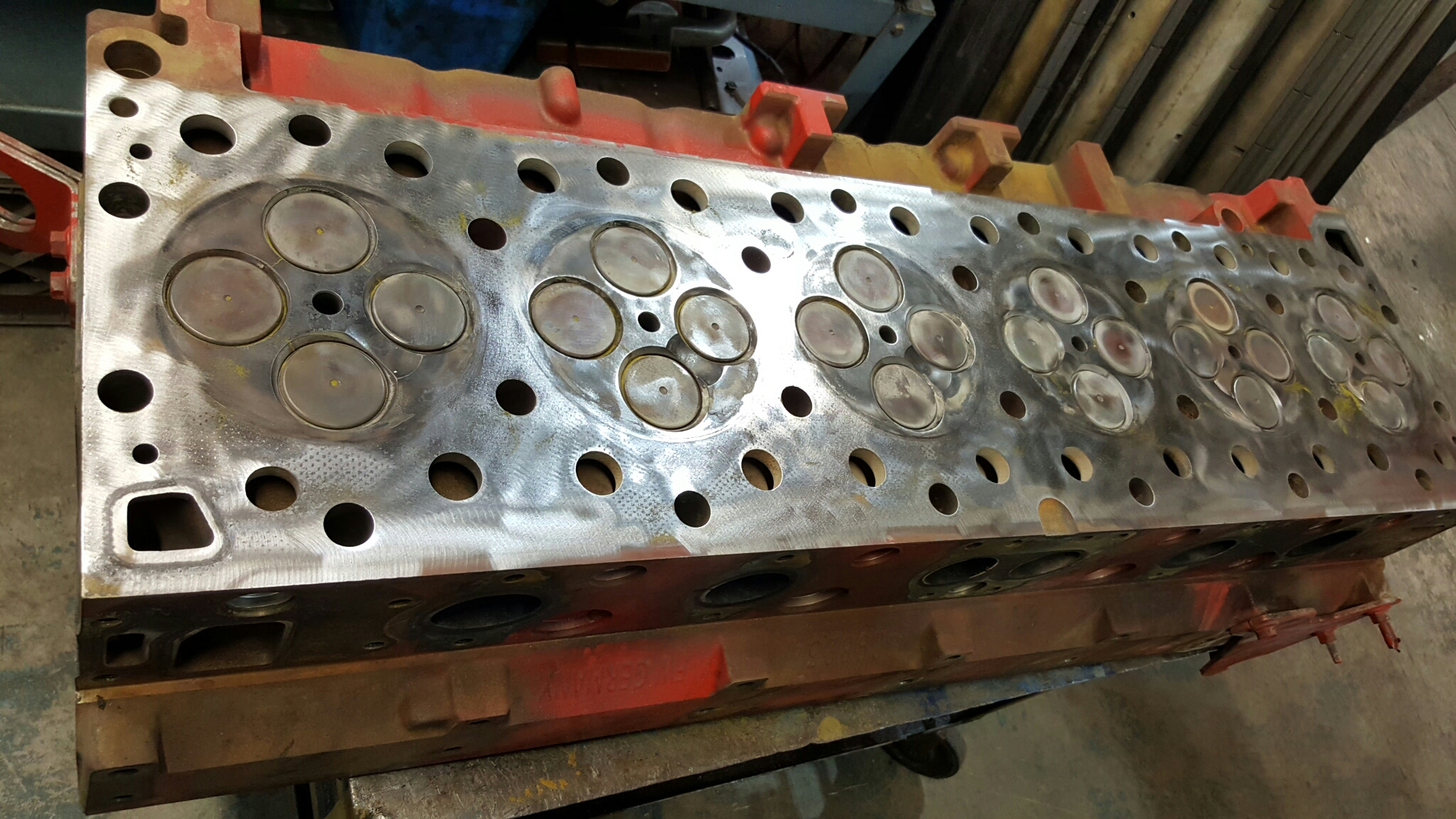 Cummins ISX Diesel Cylinder Head For Cleaning,Magnaflux For